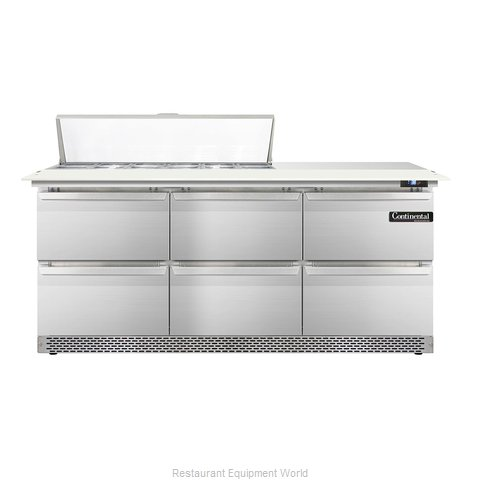 Continental Refrigerator DL72-12C-FB-D Refrigerated Counter, Sandwich / Salad To