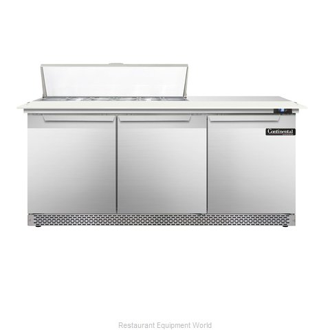 Continental Refrigerator DL72-12C-FB Refrigerated Counter, Sandwich / Salad Top