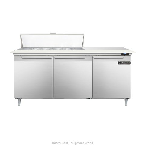 Continental Refrigerator DL72-12C Refrigerated Counter, Sandwich / Salad Top