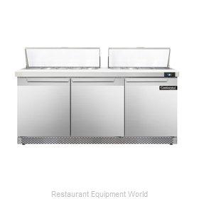 Continental Refrigerator DL72-18-FB Refrigerated Counter, Sandwich / Salad Top