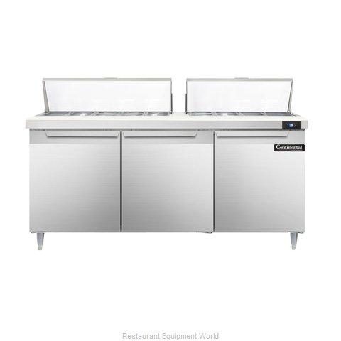 Continental Refrigerator DL72-18 Refrigerated Counter, Sandwich / Salad Top