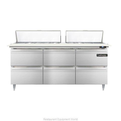 Continental Refrigerator DL72-18C-D Refrigerated Counter, Sandwich / Salad Top