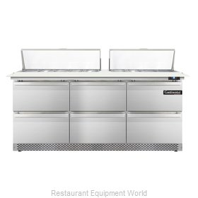 Continental Refrigerator DL72-18C-FB-D Refrigerated Counter, Sandwich / Salad To