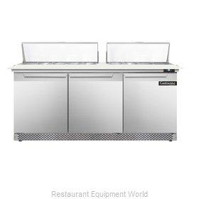Continental Refrigerator DL72-18C-FB Refrigerated Counter, Sandwich / Salad Top