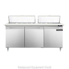Continental Refrigerator DL72-18C Refrigerated Counter, Sandwich / Salad Top