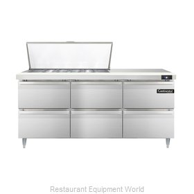 Continental Refrigerator DL72-18M-D Refrigerated Counter, Mega Top Sandwich / Sa