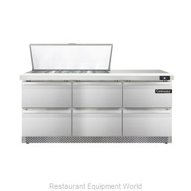 Continental Refrigerator DL72-18M-FB-D Refrigerated Counter, Mega Top Sandwich /