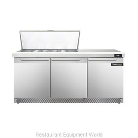 Continental Refrigerator DL72-18M-FB Refrigerated Counter, Mega Top Sandwich / S