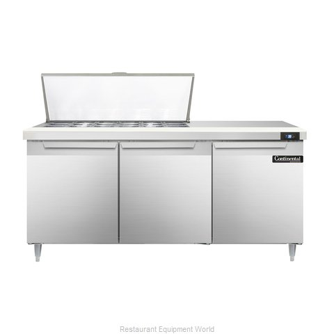 Continental Refrigerator DL72-18M Refrigerated Counter, Mega Top Sandwich / Sala