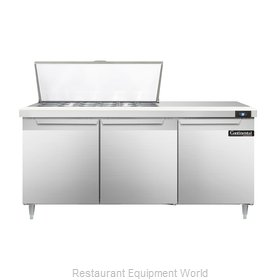 Continental Refrigerator DL72-18M Refrigerated Counter, Mega Top Sandwich / Sala