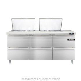 Continental Refrigerator DL72-24M-D Refrigerated Counter, Mega Top Sandwich / Sa