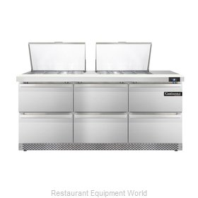 Continental Refrigerator DL72-24M-FB-D Refrigerated Counter, Mega Top Sandwich /