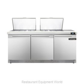 Continental Refrigerator DL72-24M-FB Refrigerated Counter, Mega Top Sandwich / S