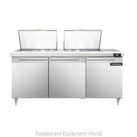 Continental Refrigerator DL72-24M Refrigerated Counter, Mega Top Sandwich / Sala