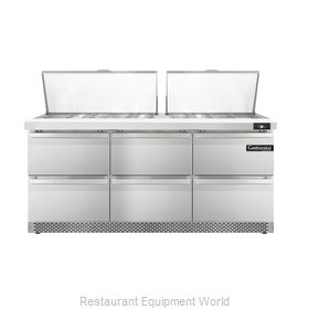 Continental Refrigerator DL72-27M-FB-D Refrigerated Counter, Mega Top Sandwich /