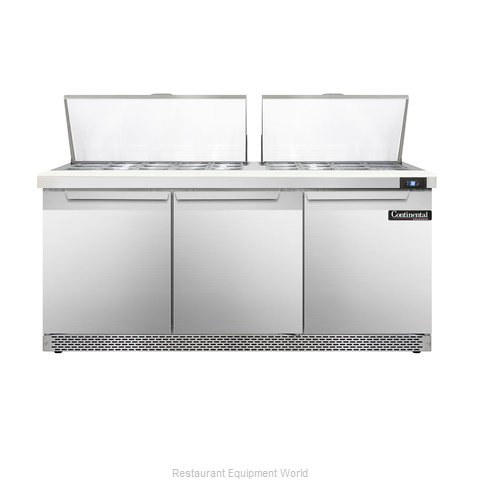 Continental Refrigerator DL72-27M-FB Refrigerated Counter, Mega Top Sandwich / S