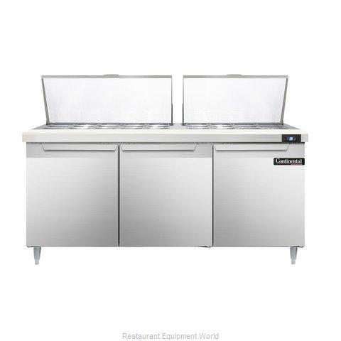 Continental Refrigerator DL72-27M Refrigerated Counter, Mega Top Sandwich / Sala