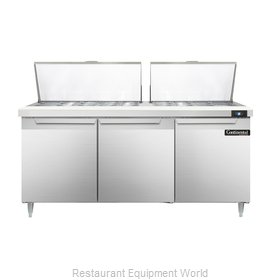 Continental Refrigerator DL72-27M Refrigerated Counter, Mega Top Sandwich / Sala