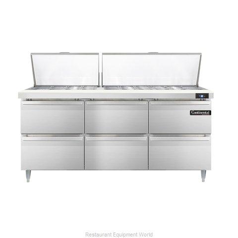 Continental Refrigerator DL72-30M-D Refrigerated Counter, Mega Top Sandwich / Sa