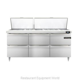 Continental Refrigerator DL72-30M-D Refrigerated Counter, Mega Top Sandwich / Sa