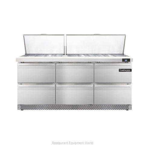 Continental Refrigerator DL72-30M-FB-D Refrigerated Counter, Mega Top Sandwich /