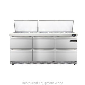 Continental Refrigerator DL72-30M-FB-D Refrigerated Counter, Mega Top Sandwich /