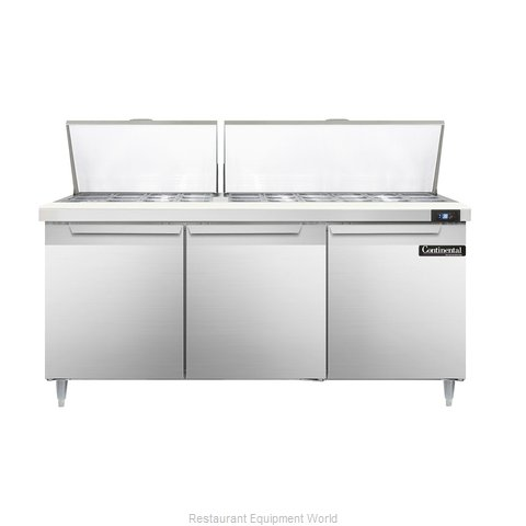 Continental Refrigerator DL72-30M Refrigerated Counter, Mega Top Sandwich / Sala