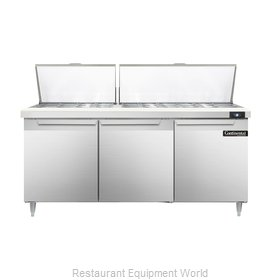 Continental Refrigerator DL72-30M Refrigerated Counter, Mega Top Sandwich / Sala