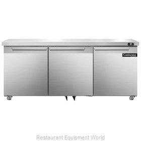 Continental Refrigerator DL72-SS-U Refrigerator, Undercounter, Reach-In