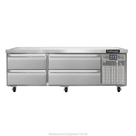 Continental Refrigerator DL72G Equipment Stand, Refrigerated Base