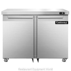 Continental Refrigerator DLF36-SS-U Freezer, Undercounter, Reach-In