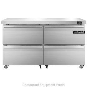 Continental Refrigerator DLF48-SS-U-D Freezer, Undercounter, Reach-In