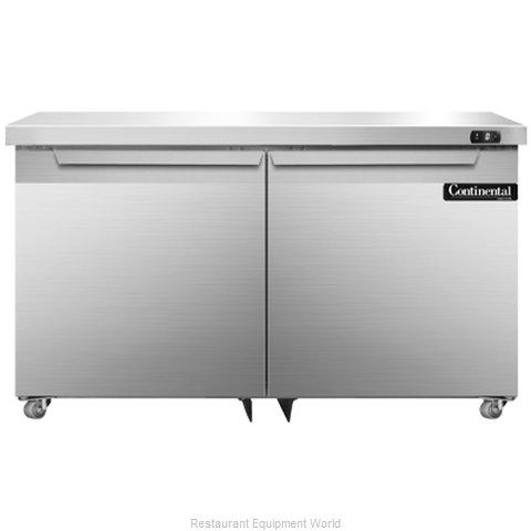 Continental Refrigerator DLF48-SS-U Freezer, Undercounter, Reach-In