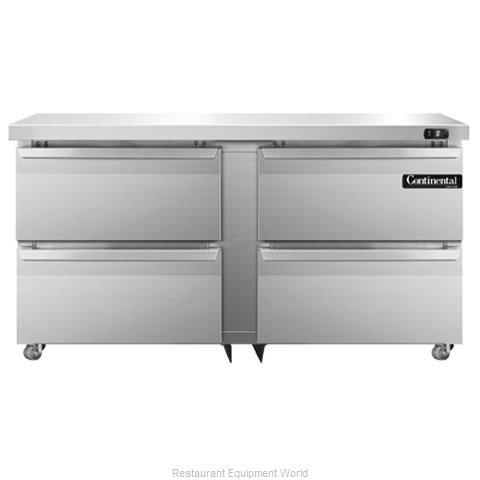 Continental Refrigerator DLF60-SS-U-D Freezer, Undercounter, Reach-In