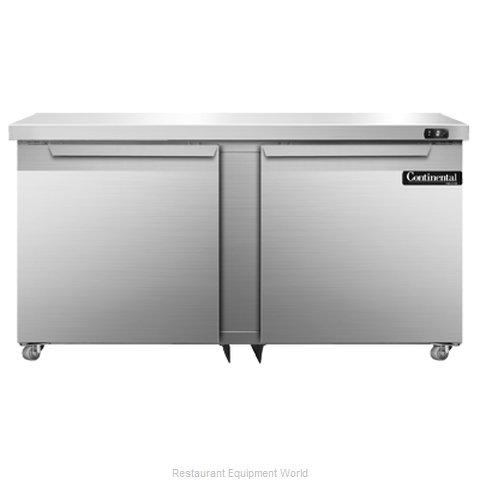 Continental Refrigerator DLF60-SS-U Freezer, Undercounter, Reach-In