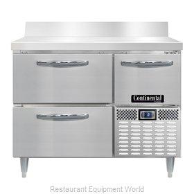 Continental Refrigerator DLFA43-SS-BS-D Freezer Counter, Work Top