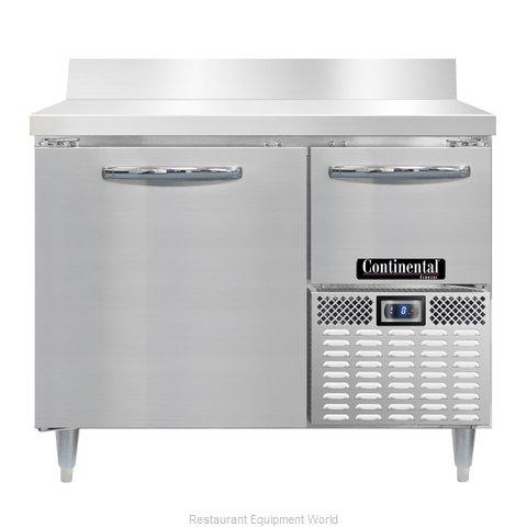 Continental Refrigerator DLFA43-SS-BS Freezer Counter, Work Top
