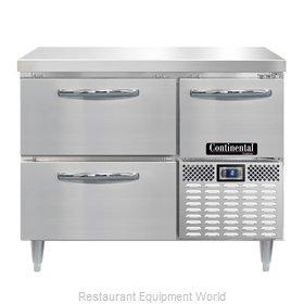 Continental Refrigerator DLFA43-SS-D Freezer Counter, Work Top