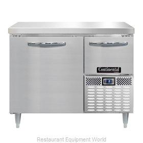 Continental Refrigerator DLFA43-SS Freezer Counter, Work Top