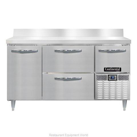 Continental Refrigerator DLFA60-SS-BS-D Freezer Counter, Work Top