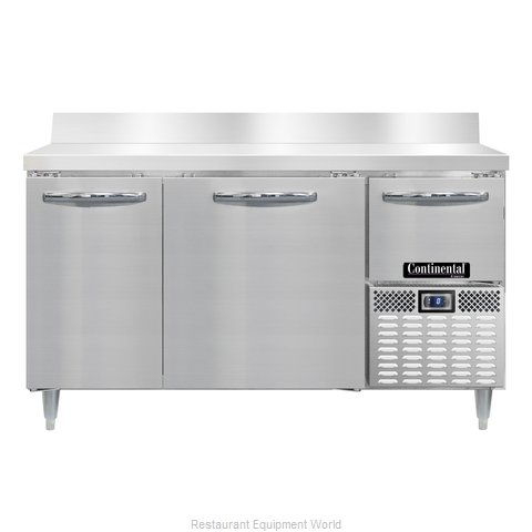Continental Refrigerator DLFA60-SS-BS Freezer Counter, Work Top