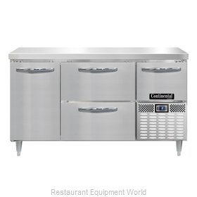 Continental Refrigerator DLFA60-SS-D Freezer Counter, Work Top