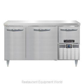 Continental Refrigerator DLFA60-SS Freezer Counter, Work Top