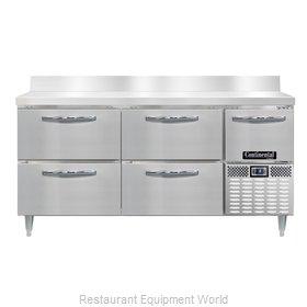Continental Refrigerator DLFA68-SS-BS-D Freezer Counter, Work Top