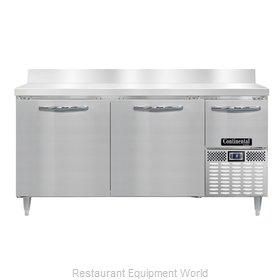 Continental Refrigerator DLFA68-SS-BS Freezer Counter, Work Top