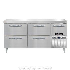 Continental Refrigerator DLFA68-SS-D Freezer Counter, Work Top