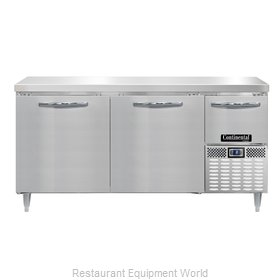 Continental Refrigerator DLFA68-SS Freezer Counter, Work Top