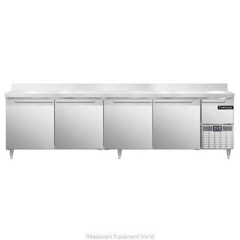 Continental Refrigerator DLRA118-SS-BS Refrigerated Counter, Work Top