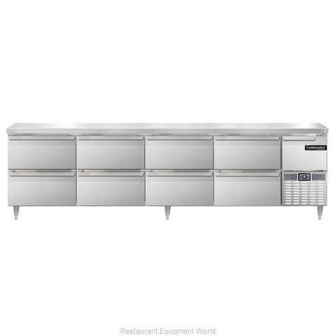 Continental Refrigerator DLRA118-SS-D Refrigerated Counter, Work Top