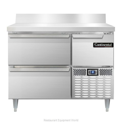 Continental Refrigerator DLRA43-SS-BS-D Refrigerated Counter, Work Top